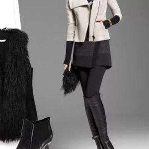 CABI Black Quilted Swathe Mini Wrap Skirt Waist34